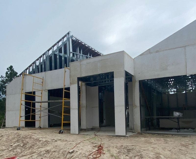 steel frame lightweight concrete home in Florida port charlotte